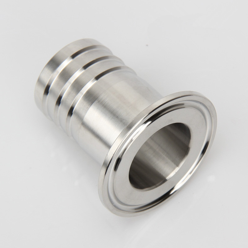 19mm-38mm Sanitary Stainless Steel Tri Clamp Hose Barb Adapter Hose Tails SS304