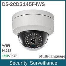 Новое Поступление Wi-Fi Ip-камеры DS-2CD2145F-IWS 4MP (2560×1440) H.265 С Слот Для Карты SD до 128 ГБ Двухстороннее Аудио Для Камеры Безопасности