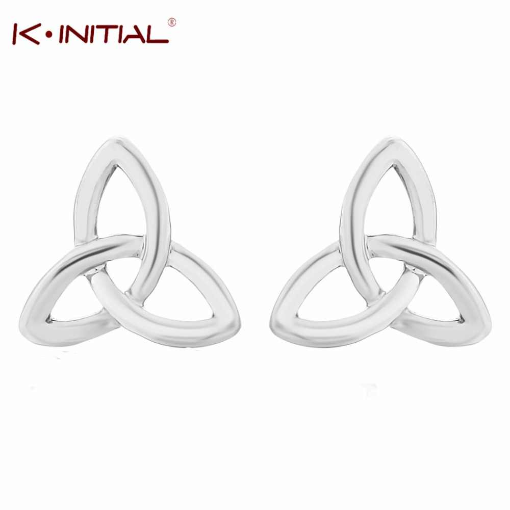 Kinitial Fashion Bow Knot Jewelry Twist Love Knot Stud Earrings for Women Push-back Small Earrings Wholesale oorbellen