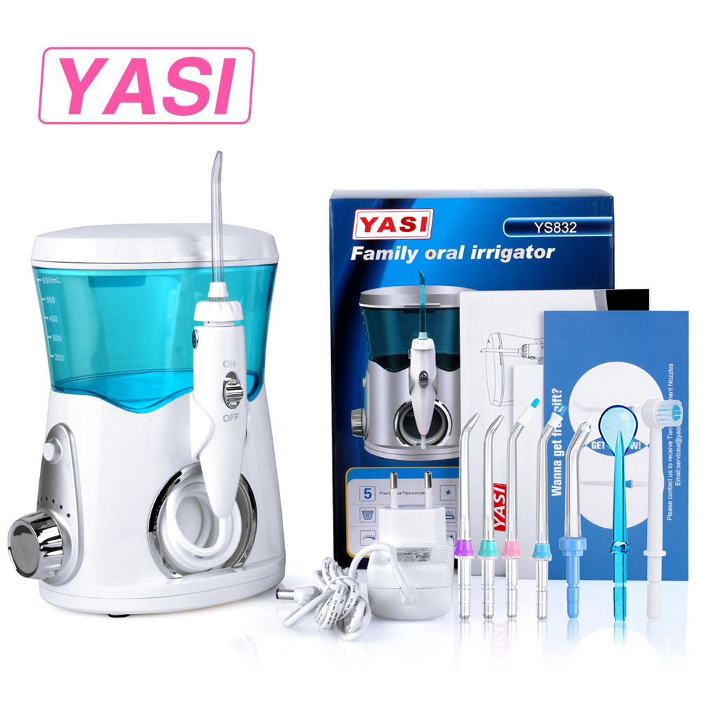 2018 New YASI 832 Dental Flosser Oral Irrigator Water Flosser Portable Irrigator Dental Floss Water Floss Pick Dental