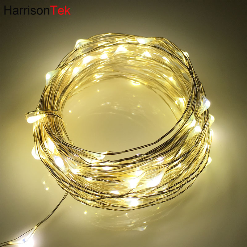 100setsx 10M100LED silver wire string lights DC5V holiday