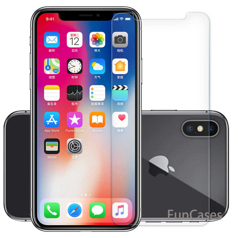 2.5D 9H Ultra Thin Tempered Glass for iPhone XS XR X Screen Protective Front Film for iPhone X XS Max Clear Premium Glass