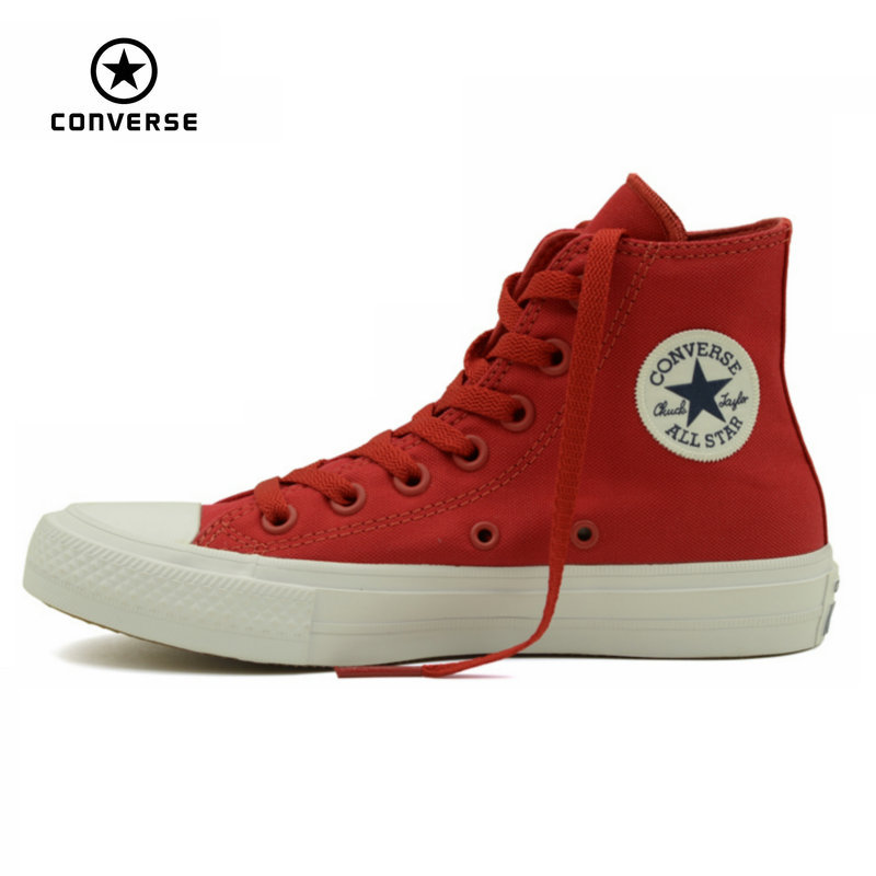 ФОТО Converse Chuck Taylor II new All Star unisex high sneakers canvas shoes Classic pure color Skateboarding Shoes 150145C