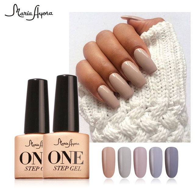 Maria Ayora One Step Nail Gel 7ml Long-lasting LED UV Lamp Nail Gel Polish Lacquer Varnish no Base Top Coat Gel Nail Art