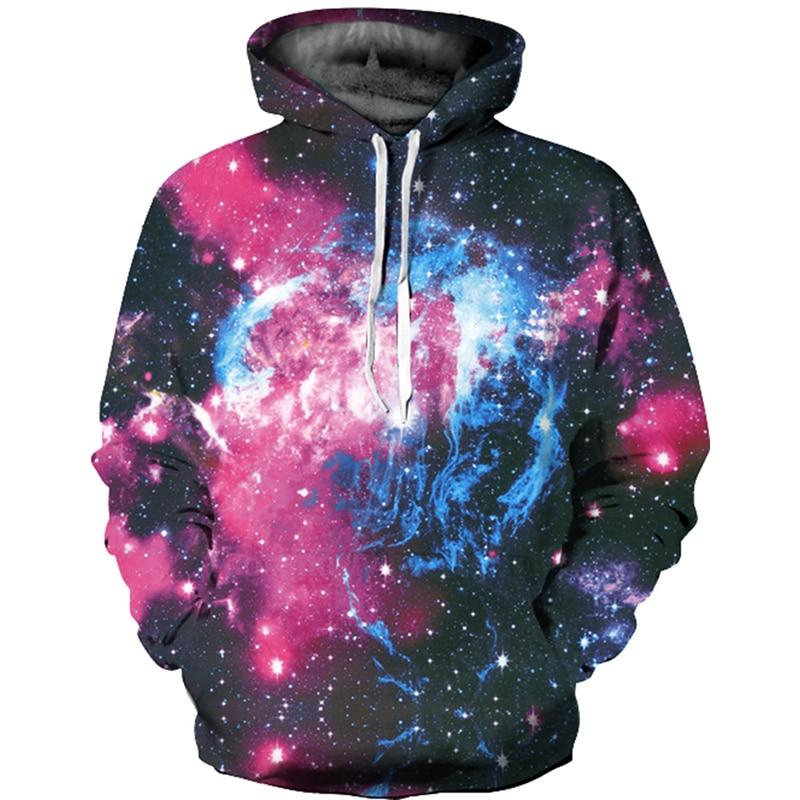 Fashion Space Galaxy Sweatshirt Women Men Hoodies Women Sweatshirt Stars Nebula Hoodies Hooded Hoodies Women Hoodies Sweatshirts