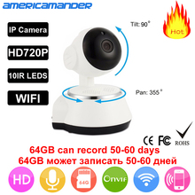 AM HD Wireless Security IP Camera WifiI Wi-fi Camera R-Cut Night Vision Audio Recording Surveillance Network Indoor Baby Monitor