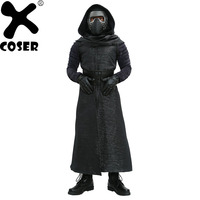 Ren Kylo XCOSER Kostümler V1 Sürüm Suit Star Wars The kuvvet Uyandırır Villain Cosplay Kıyafetler Erkekler Serin Siyah Kostüm Tam setleri