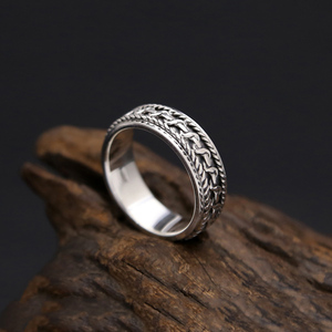Image 4 - Vintage Black Ring 100% Real 925 Sterling Silver For Men and Women Spinning Thailand silver Joint Ring Jewelry FR5