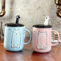 Lovely Cute Cat Pattern Animal coffee Mugs Creative Coffee Cartoon Ceramic Milk Mug Nice Gifts Breakfast Coffee Mugs Canecas
