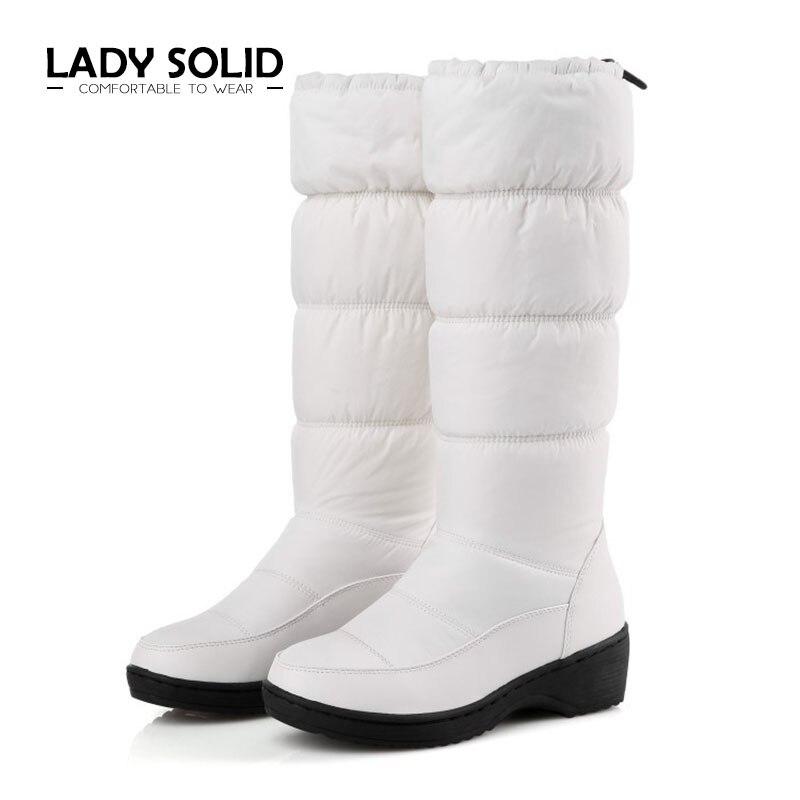 D'hiver white 40 Mode Bota Creamy Imperméables Marque Bottes blue Femme Chaudes Bas Tissu 8586 black De Et Le Vers Neige Hx ~ 2018 Femmes 35 AqT44w