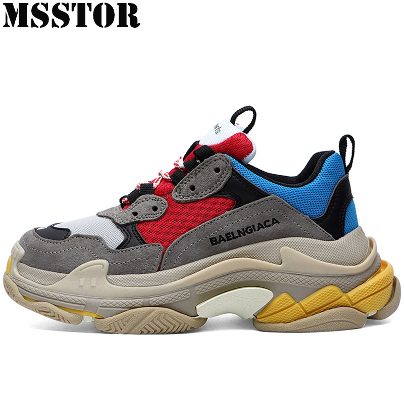 MSSTOR Retro Women Men Running Shoes Woman Man Brand Summer Breathable Women Sport Shoes Outdoor Athletic Womens Sneakers 35-44 msstor women running shoes summer breathable mesh sport shoes for woman brand outdoor athletic sports run womens sneakers 35 40