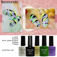 Glitter Camouflag Nail Art Design Set UV Gel Nail Polish Long-Lasting Soak Off Nail Varnishes Lacquer Base Top Coat Fake Nails