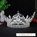New High Quality Bride Wedding Crown Austrian Crystal Large Queen Crown Wedding Hair Accessories for Women FN-G012