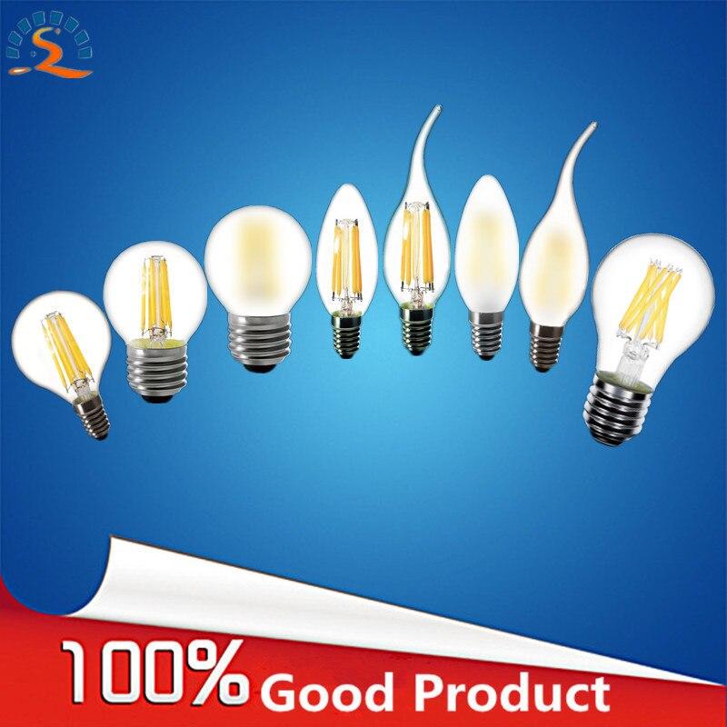 RXR E27 E14 E12 2W 4W 6W 8W A60 A19 G45 C35 B10 Frosted Warm White Edison retro LED Filament Bulb lights Lamp 220V 230V 110V AC доска для объявлений dz 1 2 j8b [6 ] jndx 8 s b