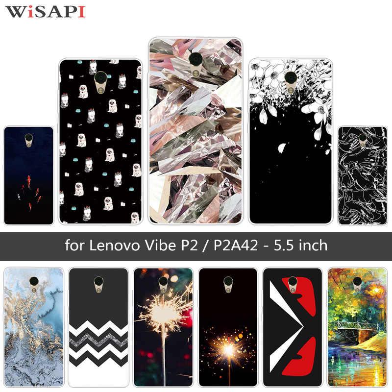 5.5 inch Cho Lenovo P2 Ốp Lưng Ốp Lưng Fundas Siêu Mỏng Dẻo Silicone Dùng Cho Lenovo Vibe P2 P2C72 Mềm Mại Bảo Vệ Đậm ốp lưng CapA