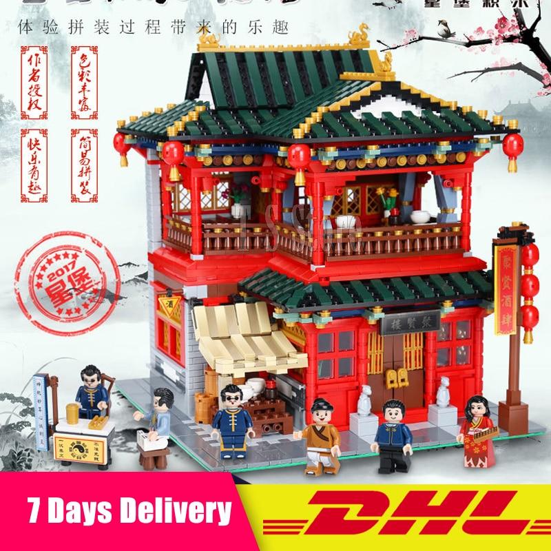 Xingbao 01002 3267Pcs MOC The Beautiful Tavern Set Children Building Blocks Bricks Toys Model Gifts Compatible LegoINGlys
