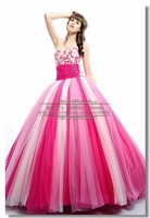 Rose Red and white Quinceanera Dresses beautiful