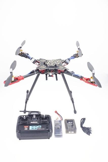 JMT Radioenlace T6EHP-E TX y RX QQ Cargador de Control de Vuelo de La Batería ESC Motor HMF Estante Plegable RC Quadcopter RTF Kit F11066-F