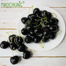 MOOCHUNG 50 Pairs Fake Cherries For Home Kitchen Decor Party Decorations Still Life Paintings Artificial Lifelike Fruit Cherry