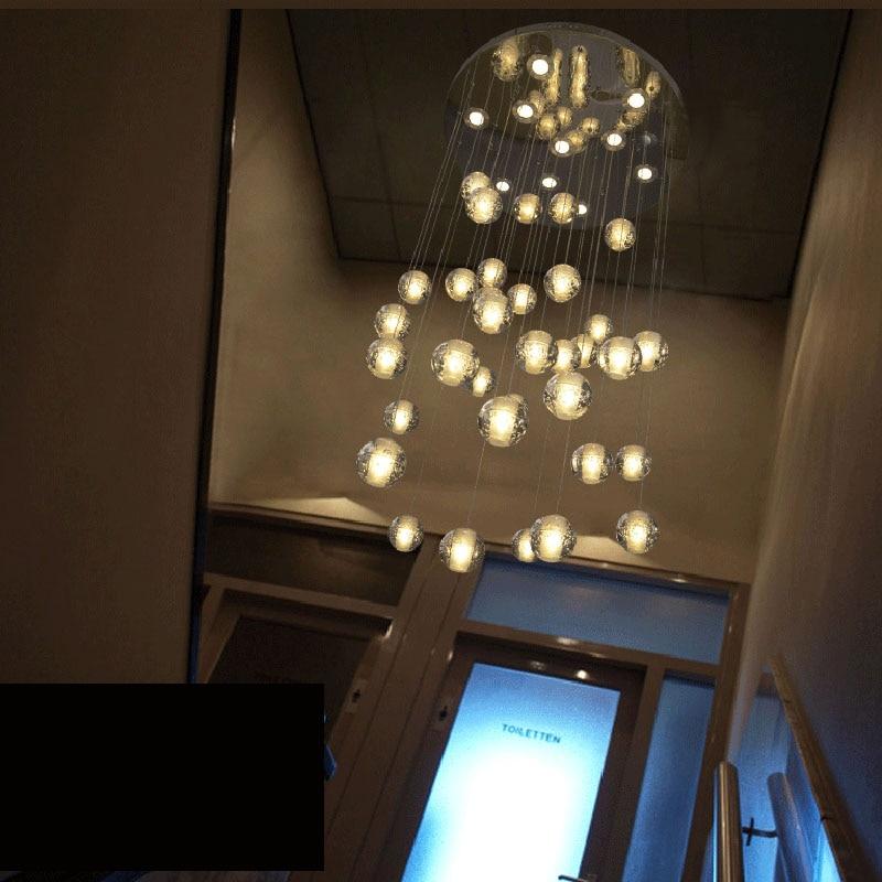 Creative Modern Minimalist Crystal Glass Ball Meteoric Shower Led