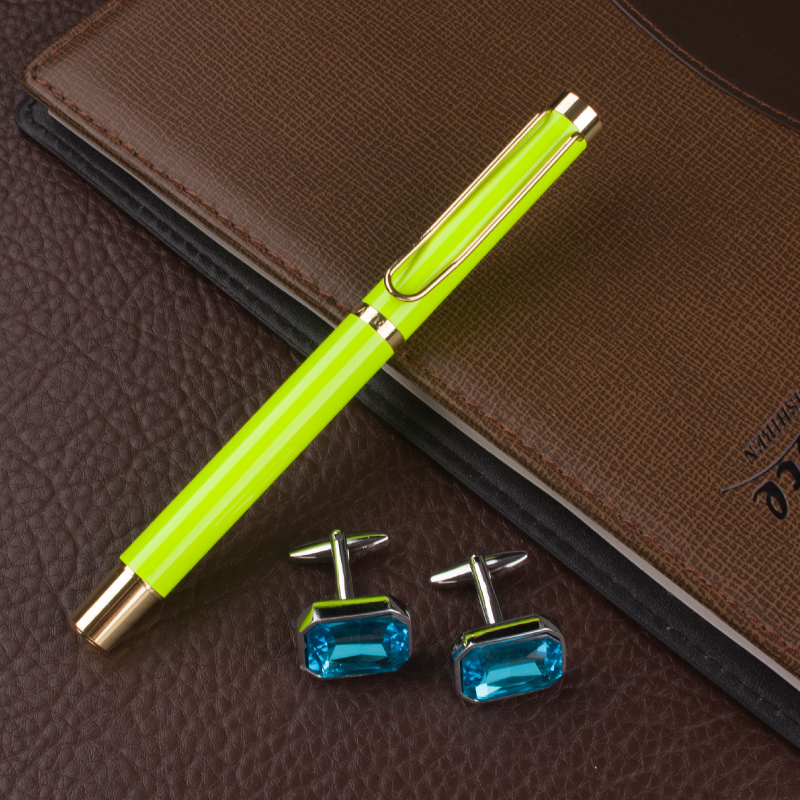 DIKA WEN  0.7mm Nib The Best  luxury Pencil Box Office Stationery Business Gift novelty Roller Ball Pen with cufflinks for mens чаша для мультиварки redmond rb a600 6л тефлон