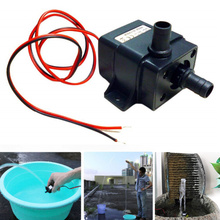 цена на 12V 140L/H Ultra Quiet Brushless Motor Submersible Pool Water Pump Solar Water Pump  YU-Home
