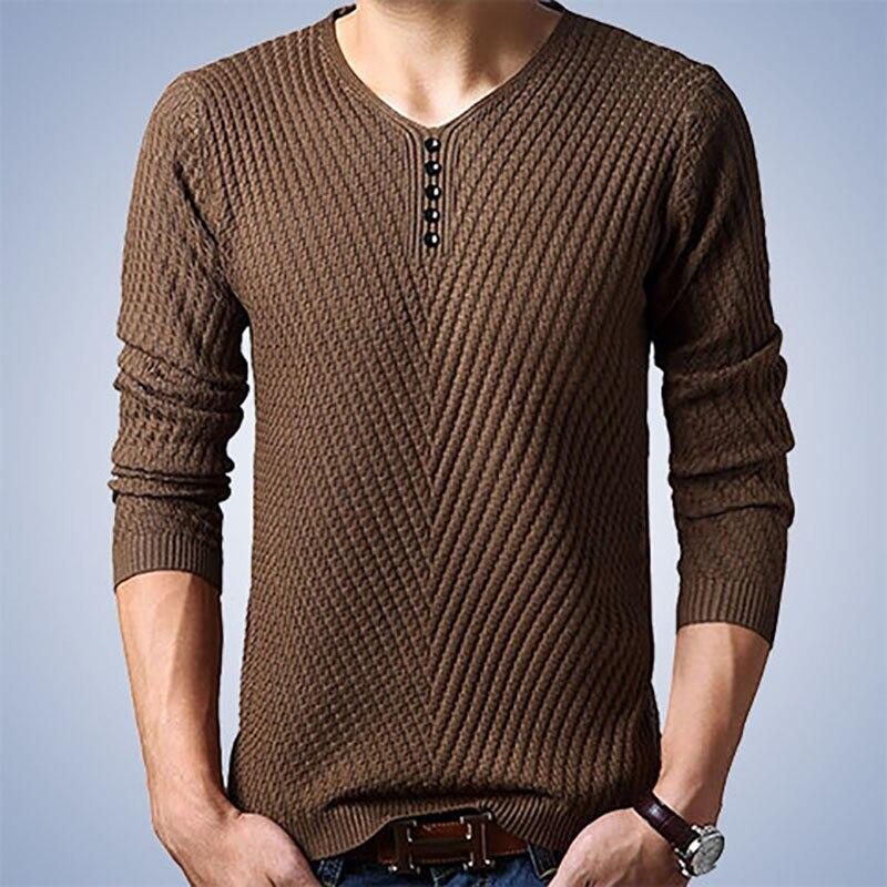 009d180af De invierno con cuello en V suéter hombres Jersey de Cachemira suéter de  Navidad para Hombre de ...