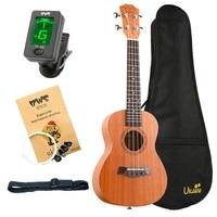 ABGZ Bws Est & 1988 Concert Ukulele Kits 23 Inch Mahogany Wood Acoustic Cutaway Guitar Ukulele Hawaii 4 String Guita