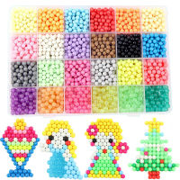 3000pcs 24Color Children DIY Magic Beads Puzzle Water Stick Beads Toy Children 3D Aqua Toys Set Educational Kids Toys Arts Craft