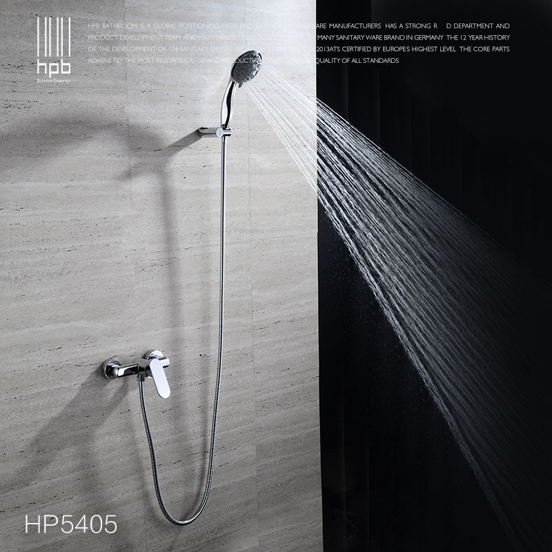 hbp brass bathroom bathtub faucet handheld shower head faucets mixer tap cold hot water taps chrome single handle hp5405