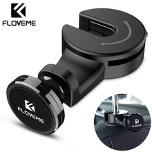 FLOVEME Luxury Magnetic Car Phone Holder Hook Back Seat Headrest Universal For iPhone iPad Magnet Stand Holder Soporte Mount(China)