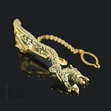 David Kabel Silver Gold dragon tie clip 2016 New Fashion Novel Slim Tie Bar Clasp High Quality gold tie pin
