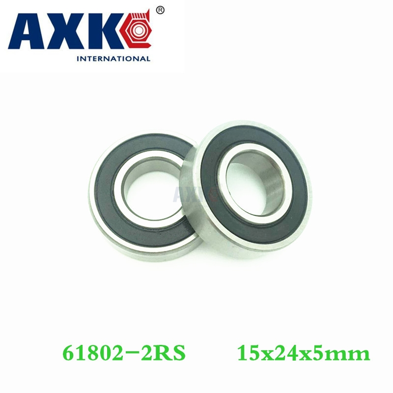 Axk <font><b>6802</b></font>-<font><b>2rs</b></font> <font><b>6802</b></font> 61802-<font><b>2rs</b></font> Hybrid <font><b>Ceramic</b></font> Deep Groove Ball Bearing 15x24x5mm image