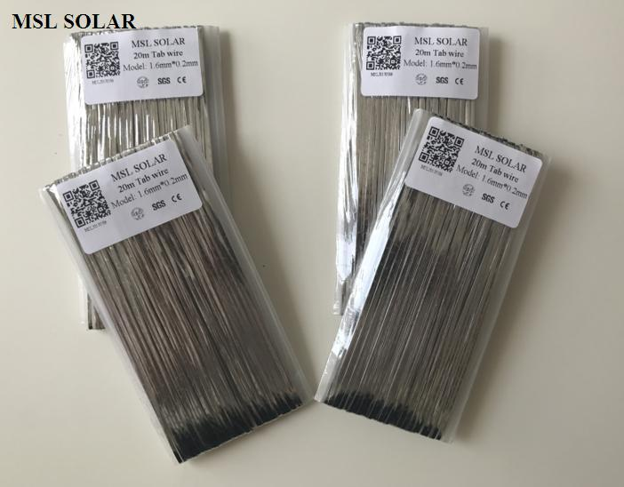 MSL SOLAR 1.6mm*0.2mm Solar cell Tabbing wire for DIY solar panel. Copper welding strip.Solder wire. 80meter/Lot