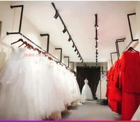 Винтаж магазин одежды двойной ряд River island пол вешалка. Дисплей стойке. Для мужчин и Женская одежда магазин железные art shelf.75