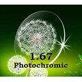 Lentes de resina de 1.67 Photochromic lentes de prescrição , sem linha de miopia / presbiopia lente óptica de alta qualidade frete grátis