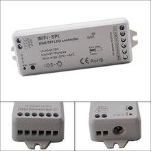 цена на DC5V-24V RGB WiFi SPI LED Controller Support WS2812B TM1809 TM1812 LPD6803 WS2801 WS2811 UCS1903 TLS3001 IC for Pixel led Strip