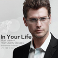High Clear Glasses Frames For Men Eyeglasses Frame Luxury Business Rimless Rhinestone Reading Optical Prescription Eyewear 852