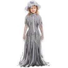 76f1e0cf44 2019 nuevo fantasma de Halloween disfraz de la princesa de Halloween floral  Nupcial desgaste de los niños