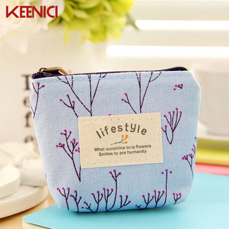 Lovely Girl Small Women Carrying Purse Retro print Flowers Canvas Coin Car Bag Cartoon Mini Children's Wallets Zipper Pouch striped travelling carrying bag for cats small