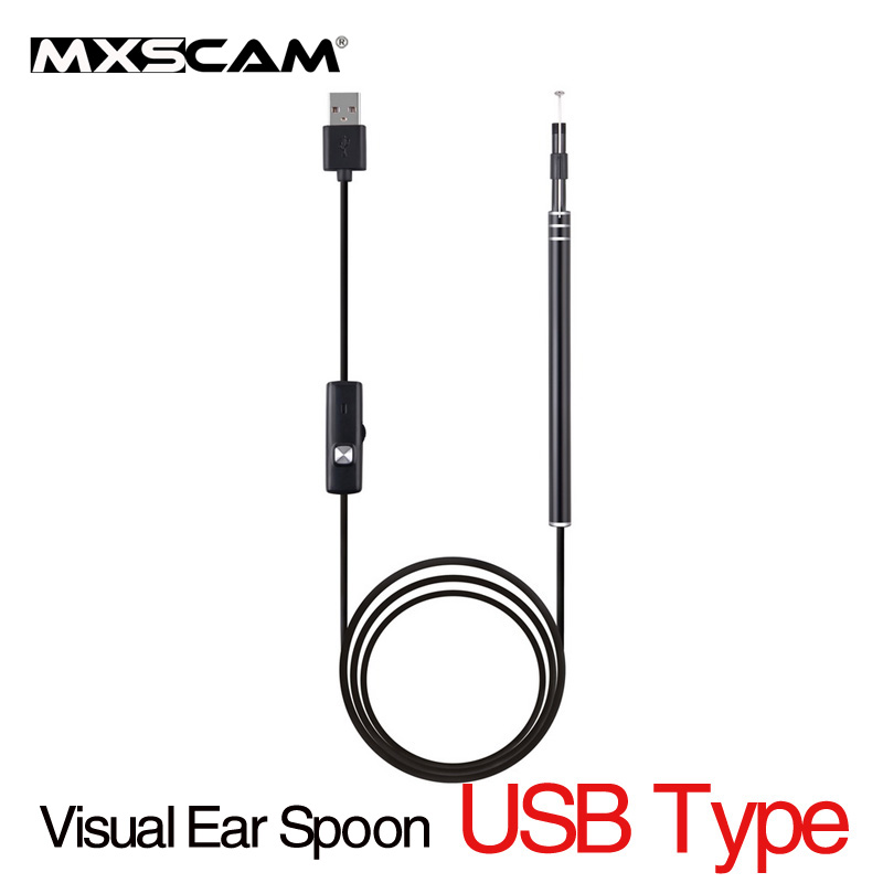 Portable PC USB Otoscope Ear Care Health Inspection Camera HD Visual Earwax Pick Tools Ear Spoon Nose Throat Inspection Camera latest research and development upgrade medical diagnositc ent kit direct ear care otoscope and ophthalmoscope diagnosis set
