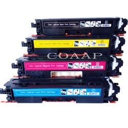 1 zestaw CF350A CF353A 130A wielokrotnego napełniania kasety z tonerem kompatybilny do HP color laserjet Pro MFP M177 M176 M176n M177fw drukarki Kasety z tonerem Komputer i biuro -