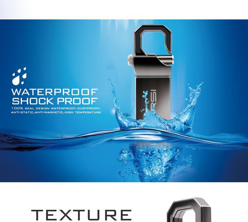 Suntrsi USB флеш-накопитель 64 Гб металлический Флэшка высокоскоростная USB Флешка 32 Гб ручка-накопитель реальная емкость 16 Гб USB флеш-накопитель