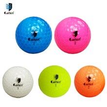 Катон кристально чистый цвет мячи для гольфа двойное расстояние игра мяч для гольфа