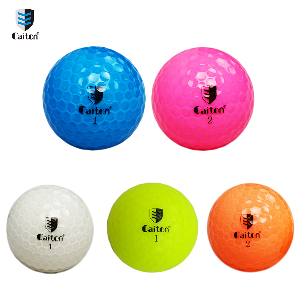 Caiton Crystal clear color golf balls Double distance game golf ball image