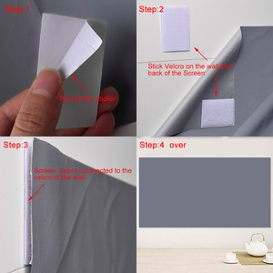 Image 5 - AAO Reflective Fabric Projector Screen 60 100 120 130 Inch 16:9 Proyector Screen for XGIMI H1 JMGO YG420 YG500 Projection Screen