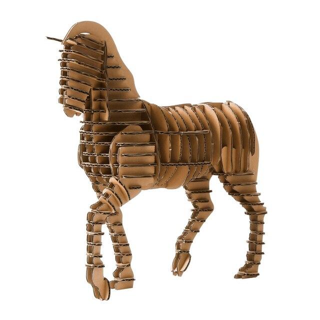 Oyuncak 3d Puzzle Horse Craft Paper Model Kids Toys Diy Kit