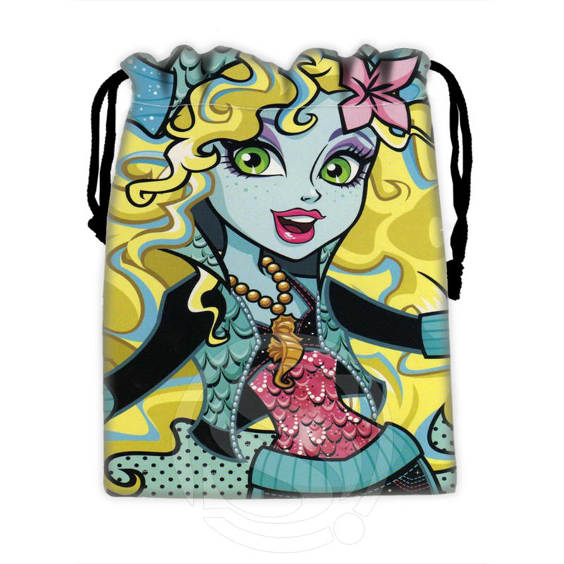 H-P762 Custom Monster High#6 Drawstring Bags For Mobile Phone Tablet PC Packaging Gift Bags18X22cm SQ00806#H0762