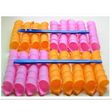 18pcs Magic Hair Curler 30cm Long Diameter 2.5cm Snail Rolls Nature Water Wave Hair Roller DIY Styling Makeup Tools(China)