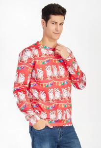 Image 2 - Alisister מכוער חג המולד סווטשירט סנטה קלאוס הדפסת Loose קפוצ ון גברים נשים סוודר חג המולד חידוש סתיו החורף למעלה